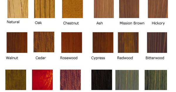 Wood Stain Wood Stain Colors And Stains On Pinterest