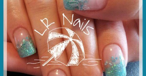 Tropical Vacation Nails Nails I Ve Done Pinterest Vacation Nails Vacation And Manicure