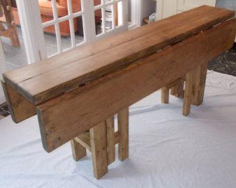 Rustic Space Saving Drop Leaf Breakfast Bar Kitchen Table 014