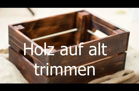 holz altern lassen auf alt trimmen neue m bel antik wirken lassen mit fl mmen youtube. Black Bedroom Furniture Sets. Home Design Ideas