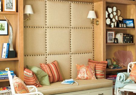 Reading Nook with Upholstered Wall