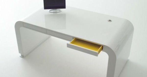 Le Meuble Design Futuriste Table Design Meuble Design Bureau Blanc Moderne