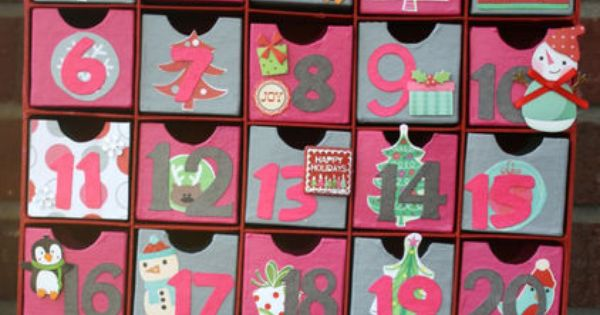 13. Simple advent calendar in a modern palette. Christy Wallace of Everyday