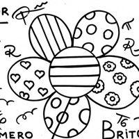 Desenho De Romero Britto Flor Para Colorir Com Imagens Obras