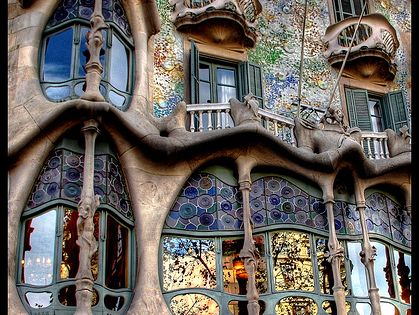 Casa Batlló, by Antoni Gaudi, Barcelona, Spain -