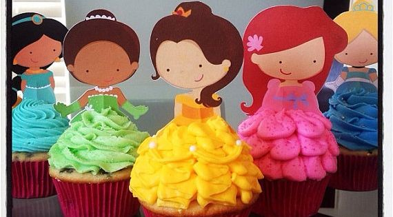 Disney Princess Cupcake toppers from Etsy