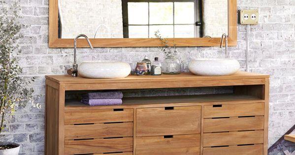 meuble salle de bain en teck 165 serena prix meubles de salle de bain 3 suisses ttc au. Black Bedroom Furniture Sets. Home Design Ideas