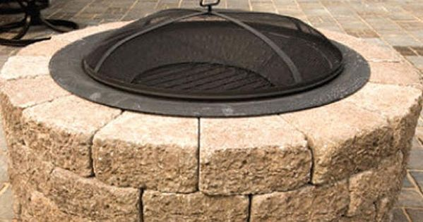 Nice Do It Yourself Home Kit From Menards Www Menards Com: Build A Patio Block Fire Pit