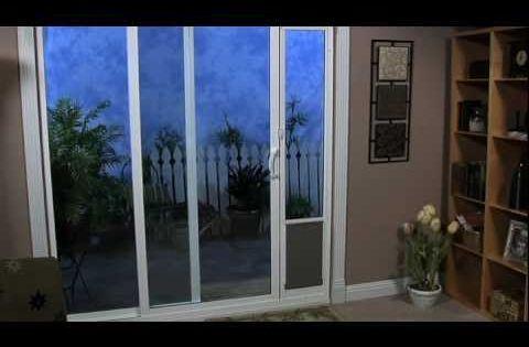 patio panel pet door installation