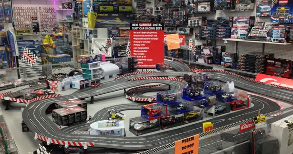 Big Boy Toys Alaska : Our carrera slot car track in the store at