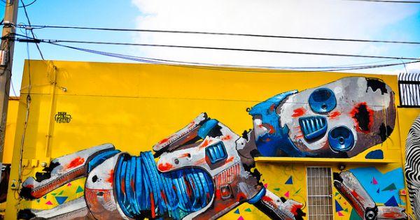 Pixel pancho arte callejero pinterest arte callejero for Graffitis y murales callejeros