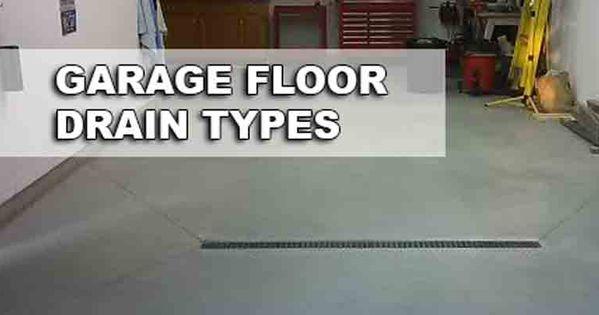 Garage Floor Drain Ideas Garage Build Pinterest