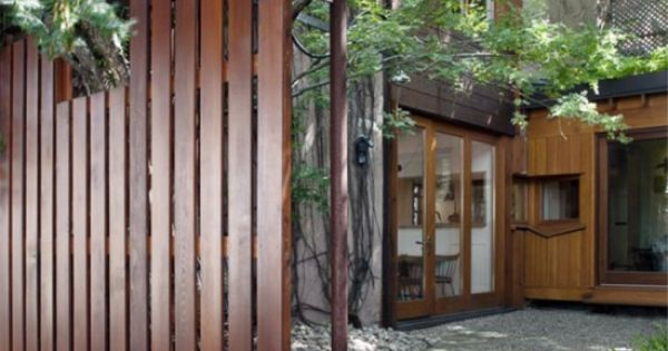 wood fence, vertical slat, modern | Fences | Pinterest ...