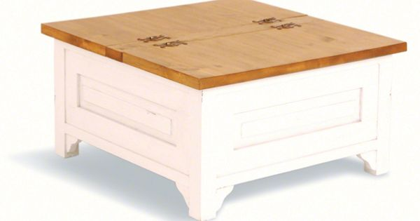 A Beautiful Painted Pine Trunk Style Coffee Table From Our Wuthering Pine Furniture Range