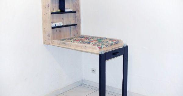 Table langer faite de palettes table langer de b b - Table a langer murale autour de bebe ...