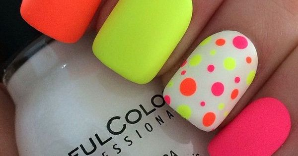 20 Neon Nail Designs for Unique And Stylish Look nails nailart naildesigns beauty popular