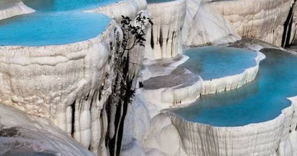 Pamukkale, Turkey. Beautiful place. There is a natural spring pool that you