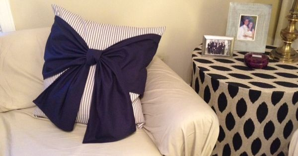 Love the big bow pillow!!