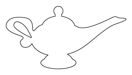 genie lamp coloring page genie lamp pattern use the printable outline for crafts