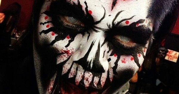 psycho clown make up creepy pinterest halloween make up halloween und clowns. Black Bedroom Furniture Sets. Home Design Ideas