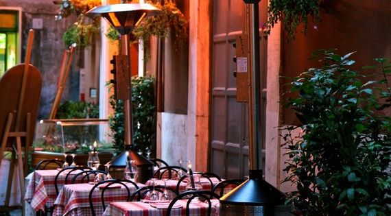 Sidewalk Dining in Rome Rome, garden design ideas modern garden design garden