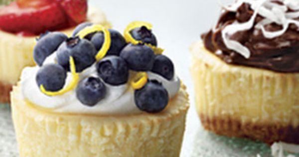 PHILADELPHIA Mini Cheesecakes Recipe - Kraft Recipes- Dessert for Tom's birthday!