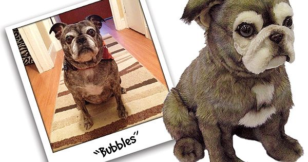 100% custom stuffed animals made to look just like YOUR dog! They're