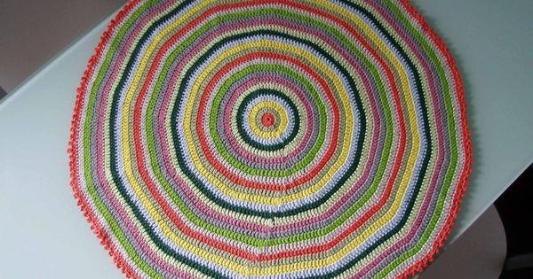 Espacio crochet tapete de ganchillo tutorial c mo tejer - Posavasos de ganchillo ...