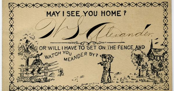 escort cards acquaintance flirtation victorian america dating history