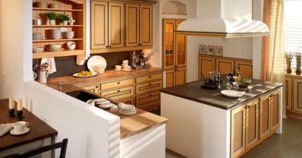 landhausk che mit kochinsel landhausk chen pinterest kitchens. Black Bedroom Furniture Sets. Home Design Ideas