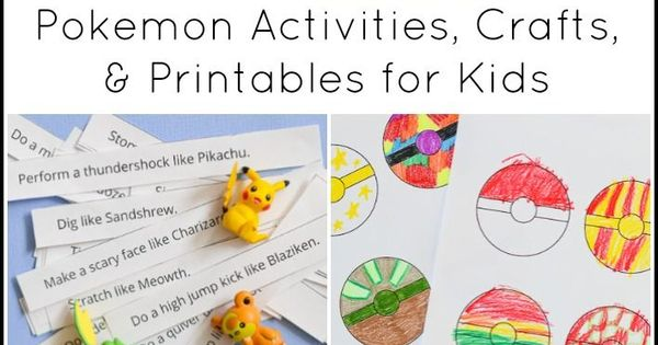 Pokemon activities crafts for kids more pok mon for Pokemon crafts for kids