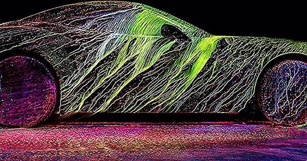 شاهد تلوين سيارة فيراري باستخدام الاشعة فوق البنفسجية وبسرعة 100 ميل في الساعة معظم الناس يعتبرون أن فكرة رش سيارة فيراري بالطلاء لغا Toy Car Car Toys