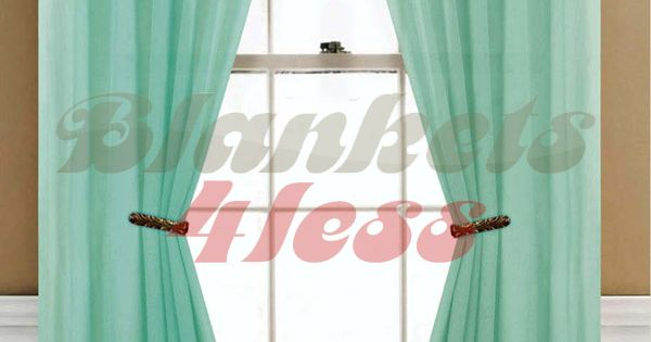 Sheer Curtains About Mint Green Solid 1 Sheer Window Curtain Panel Brand New Home