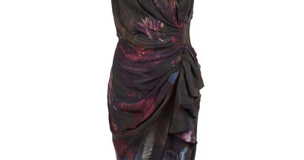 poison silk dress, AllSaints