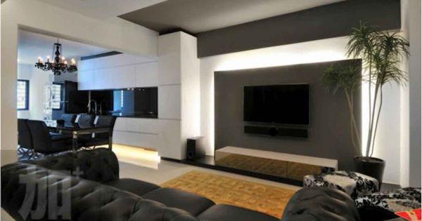 Plus Interior Design Living Room Tv Feature Wall Designs
