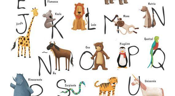 Abecedario con animales en Español   Kids at Repinned.net