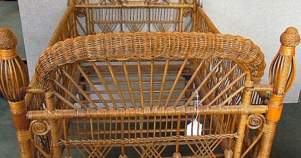 Victorian Baby Cradle Antique Victorian Wicker Baby Crib