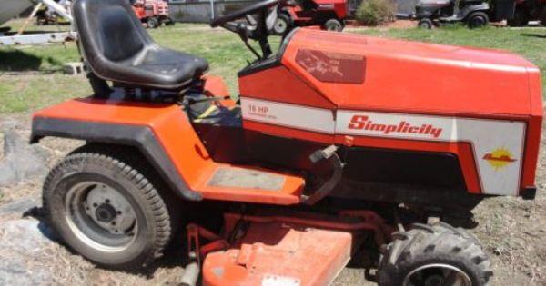 Simplicity Garden Tractor Garden Tractor Tractors Lawn Tractor
