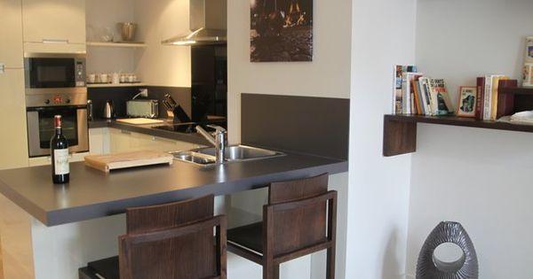Photos déco : idées décoration de cuisine | Small apartments, Bar ...