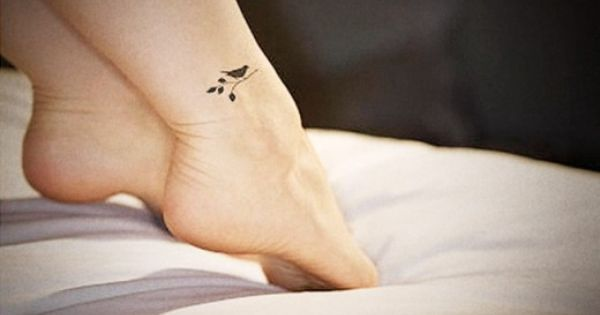 small bird tattoo on ankle for elegant women � hot tattoo for