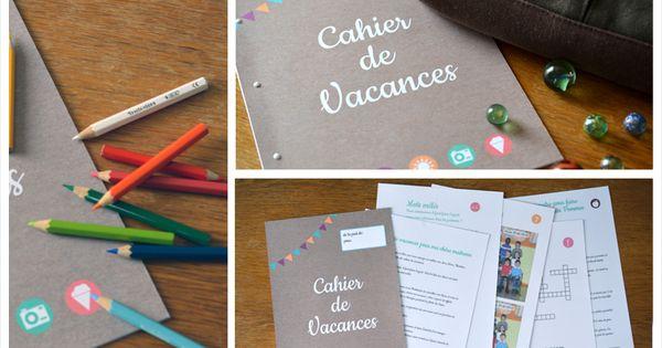 Cahier de vacance pour cadeau maitresse par the popcase avec grille mots m l s cadeaux - Cadeau original a fabriquer ...
