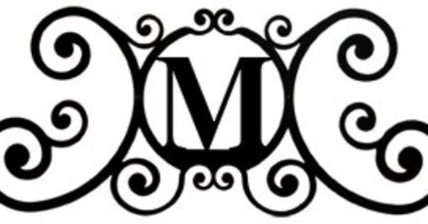 Black Wrought Iron Monogram Letter Over The Door House