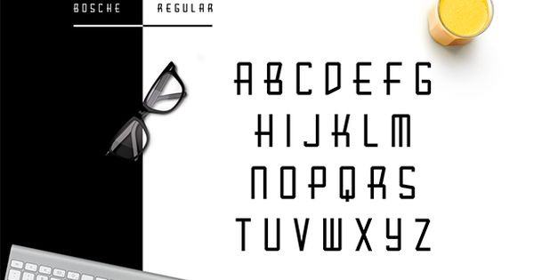 Bosche is a utilitarian typeface inspired by Bauhaus Movement which combined with futuristic touch