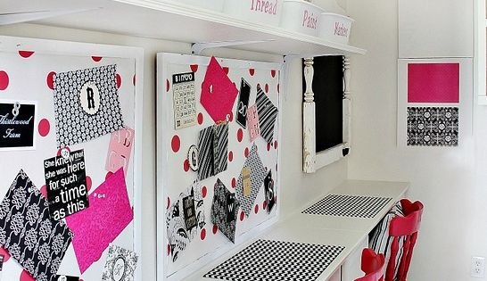 "Inspiration Board & Work Space - ""How to Organize Your Crafting Space"""