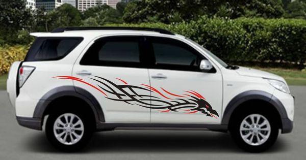 Toyota Rush Black Red Dragon Tribal Concept Cutting