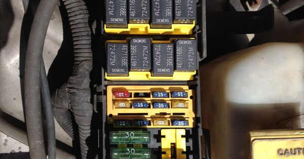Jeep Cherokee Electrical 1997 2001 XJ Fuse & Relay