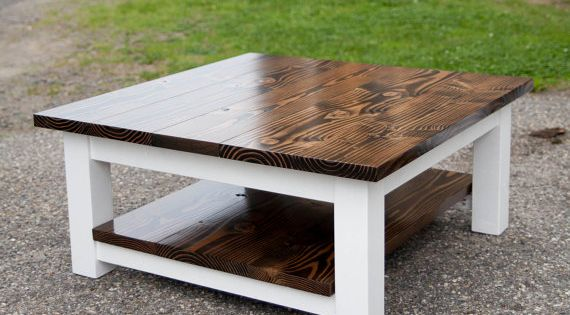 36 Square Coffee Table With Shelf From Emmor Works By Emmorworks 18 High They Can