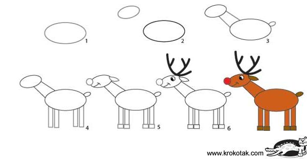 how to draw a reindeer art hub