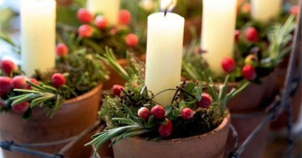 Rustic Christmas Candles Christmas decoration Christmasdecoration