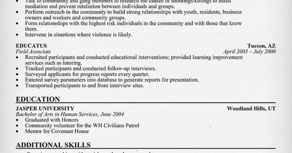 outreach worker resume sle resumecompanion